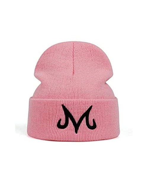 Jun New Brand Majin Buu Winter Hat Cotton Knitted Hat Knitted Beanie Hat for Pink Black