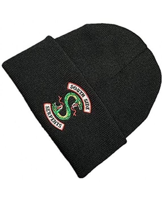 Letswin Jughead Jones Hat TV Movie Fashion Adult Riverdale Beanie Cap Winter Knitted Embroidery Hat
