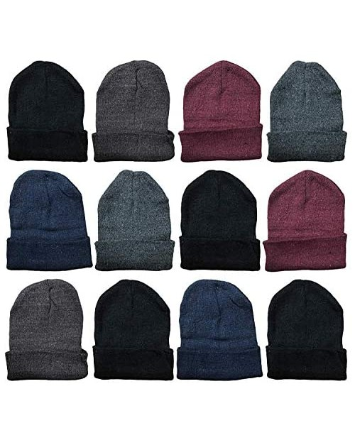 Yacht & Smith Wholesale Black Beanies Or Gloves Bulk Thermal Winter Hat Or Glove Solid Black