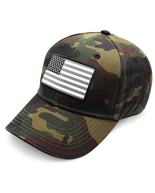 BBI Flags American Flag Hat - Camo Hat for Men and Women - Easy to Wear Trucker Hat or Tactical Gear Baseball Cap with Adjustable Strap That Securely Fits Any Size - Perfect USA Hat