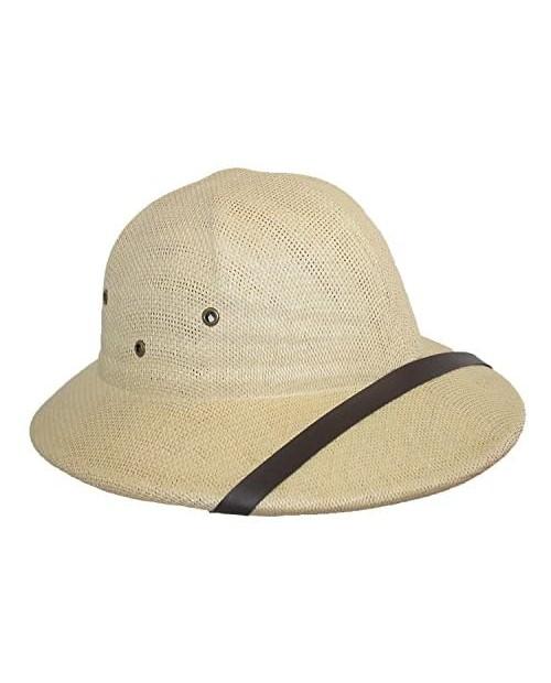 CTM Twisted Toyo Straw Pith Safari Helmet Hat