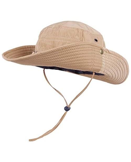 moonsix Outdoor Sun Hat for Men Wide Brim Camping Hats UV Protection Fishing Bucket Cap