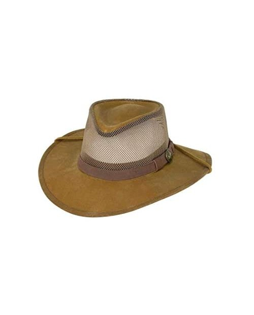Outback Trading Men's 1472 Kodiak with Mesh Waterproof Outdoor Cotton Oilskin Hat