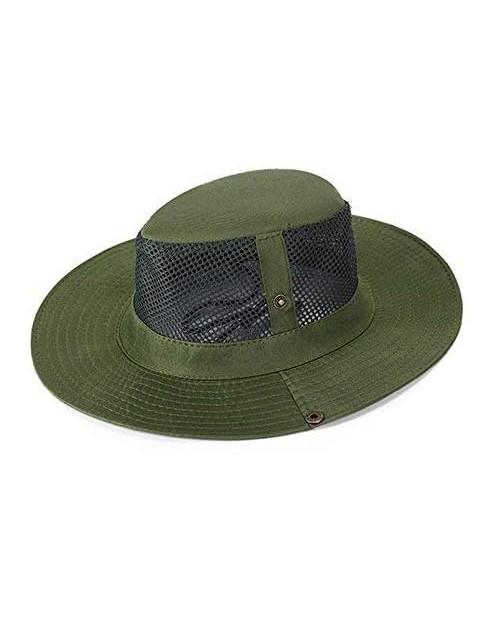 SUNLAND Men's Wide Brim Packable Sun Hat Summer Hat Bucket Safari Cap Perfect for Fishing Gardening Hiking Camping Outdoor