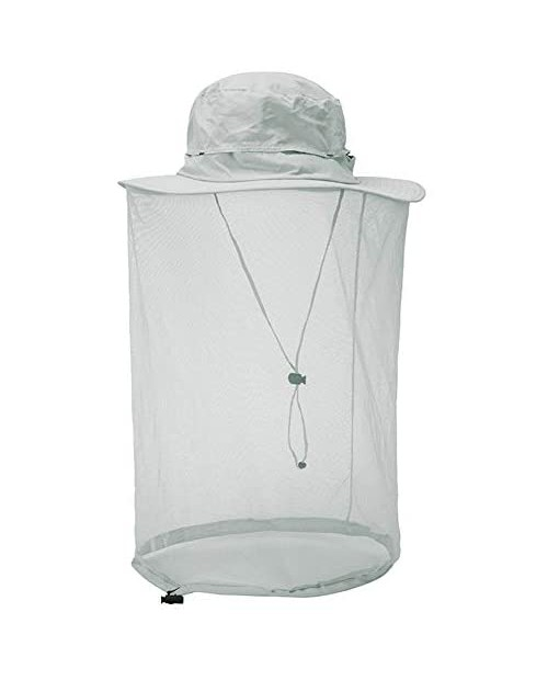 Surblue Mosquito Head Net Hat Outdoor Fishing Hiking Sun Cap Neck Face Flap Portect Hat UPF50+