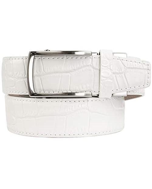 Nexbelt Alligator Series 2.0 White Belt Chrome Artemis Buckle Adjustable