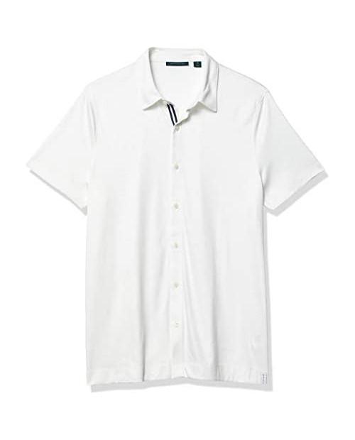 Perry Ellis Men's Ultra Soft Touch Slub Short Sleeve Button-Down Shirt