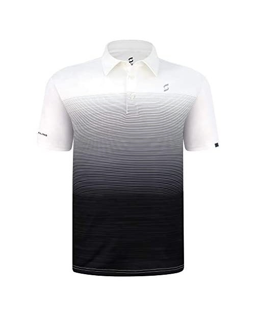 SAVALINO Men's Athletic Tennis Polo Shirt. Material Wicks Sweat and Dries Fast Size S-2XL