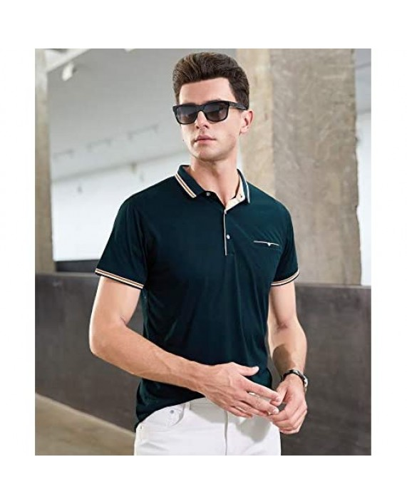 Womleys Mens Casual Slim Fit Short Sleeve Collared Polo T Shirt