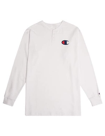 Champion Long Sleeve Big and Tall Waffle Knit Thermal Henley Shirts for Men