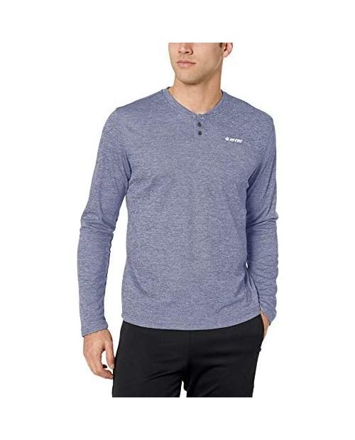 Hi-Tec Men's Sequoia Henley Long Sleeve Performance T-Shirt