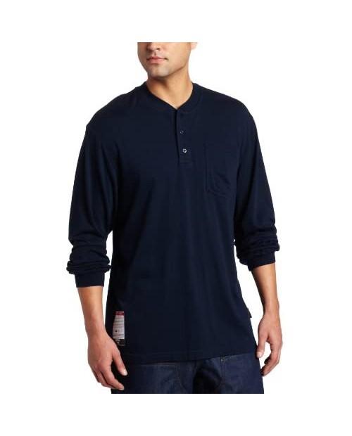 Key Industries Men's Fire Resistant Long Sleeve Pocket Henley tee Shirt Big/Tall