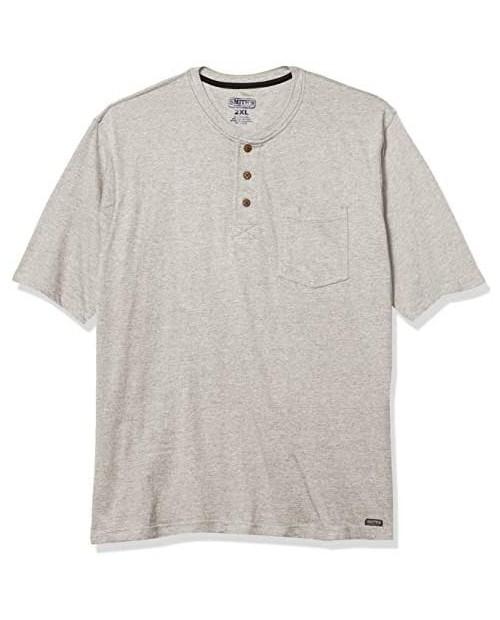 Smith's Workwear Men's Long Tail Short Sleeve Henley