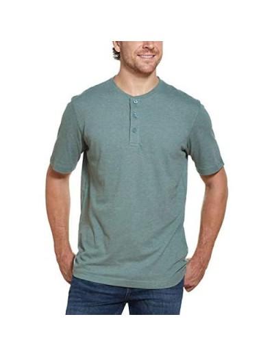 Weatherproof Vintage Men's 3 Button Short Sleeve Henley Shirt