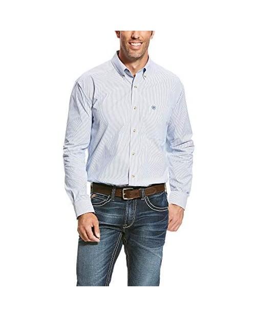 Ariat Men's Classic Fit Long Sleeve Shirt Dayne True Blue XLT