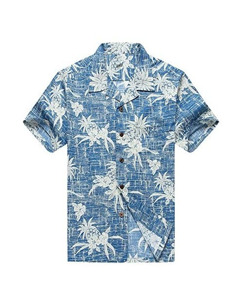 Hawaii Hangover Men's Hawaiian Shirt Aloha Shirt The New Classic Map Flamingo