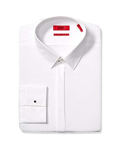 HUGO by Hugo Boss Men's Hugo Slim Fit Formal Dress Shirt with Covered Placket