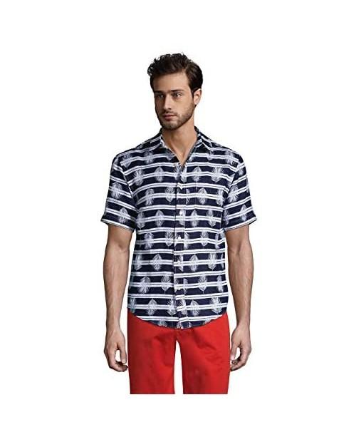 Lands' End Men's Traditional Fit Short Sleeve Linen Shirt