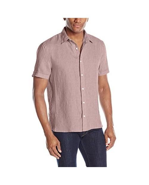 Perry Ellis Men's Short Sleeve Linen Shirt
