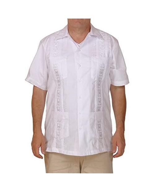 Squish Cuban Style Guayabera Shirt/White