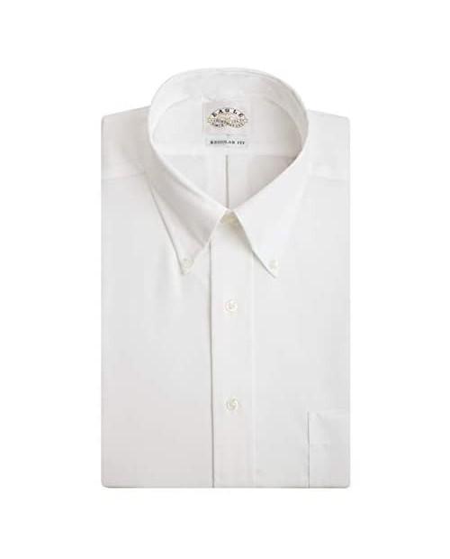 Eagle Men's Dress Shirt Regular Fit Non Iron Solid
