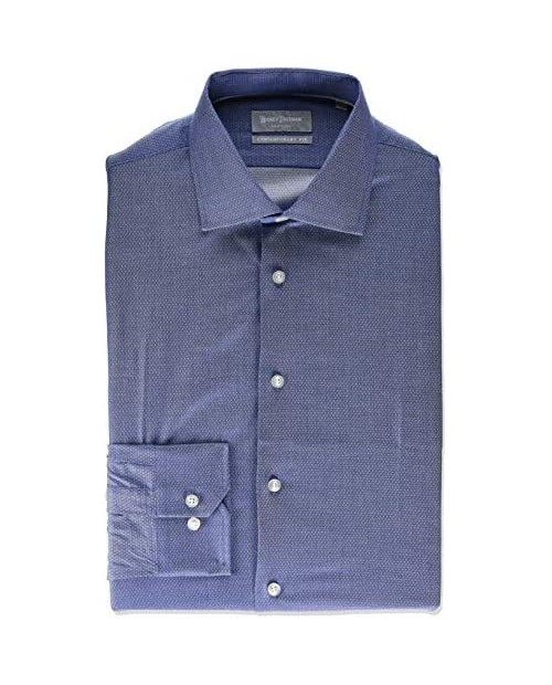 Hickey Freeman Men's Contemporary Fitted Long Sleeve Dress Shirt