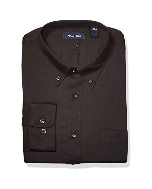 Nautica Men's Classic Fit Button Down Collar Dress Shirt