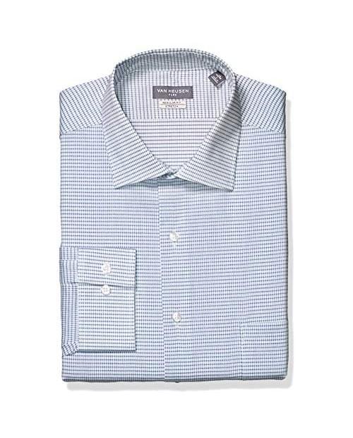 Van Heusen Men's Fit Dress Shirt Flex Collar Check (Big and Tall)