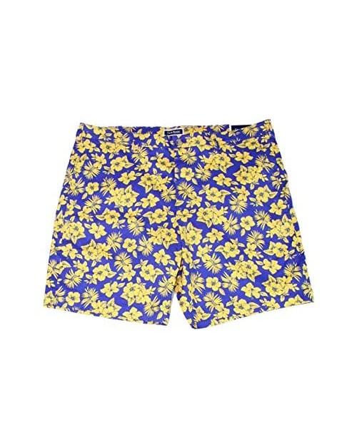 Club Room Men's Flat Front Stretch Fit Memei Floral Print Shorts