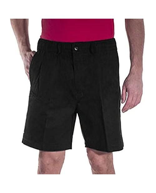 Creekwood Elastic Waist Twill Shorts for Big & Tall Men – 100% Pure Cotton