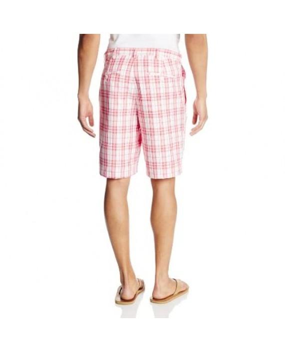 Haggar Men's Cool 18 Expandable-Waist Plain-Front Short