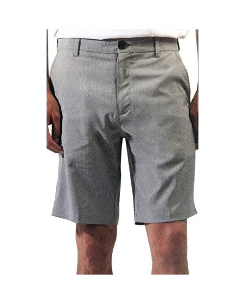 Micros Men's 2-Way Stretch Flat Front Standard Fit Shorts