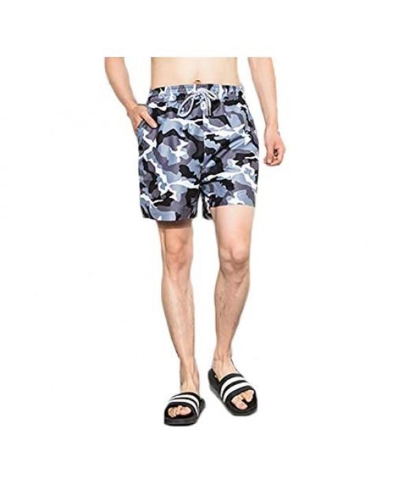 JESSIVO Mens Swim Trunks Short Quick Dry Bathing Suit Mesh Lining Swim Shorts