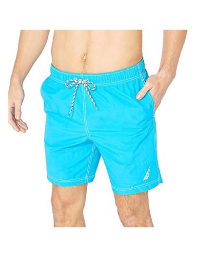 Nautica Men's Big & Tall Full-Elastic Solid Swim Trunks