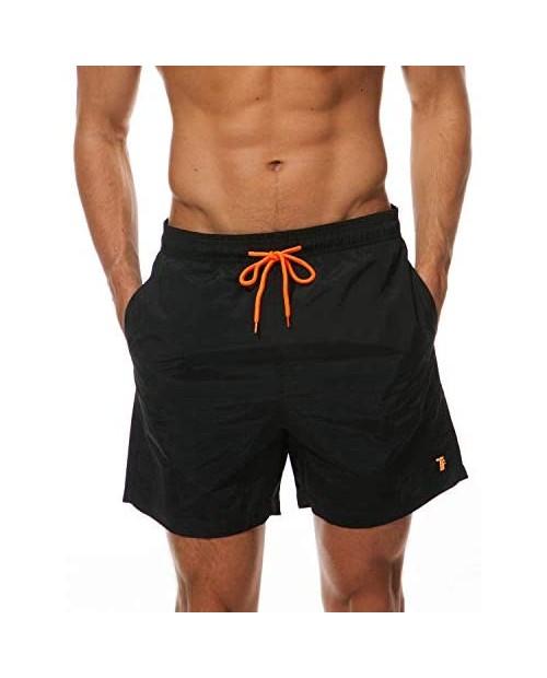 TBMPOY Men's Swim Trunks Quick Dry Beach Shorts Mesh Lining