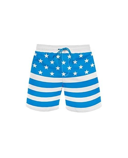Truman Swim Trunks:Blue Medium