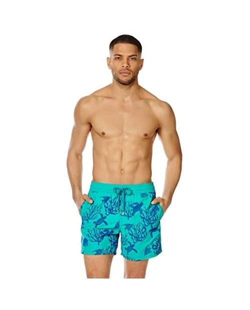 Vilebrequin - Men - Swimwear Flocked Coral and Turtles
