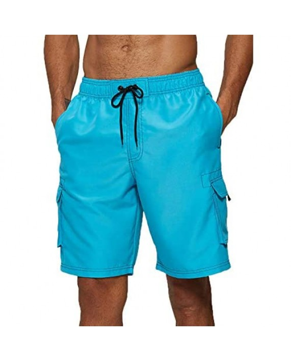 Vogyal Mens Swim Trunks Quick Dry Beach Bathing Suit with Mesh Lining