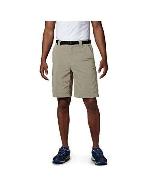Columbia Sportswear Men's Big and Tall Silver Ridge Cargo Shorts Fossil 48 x 10
