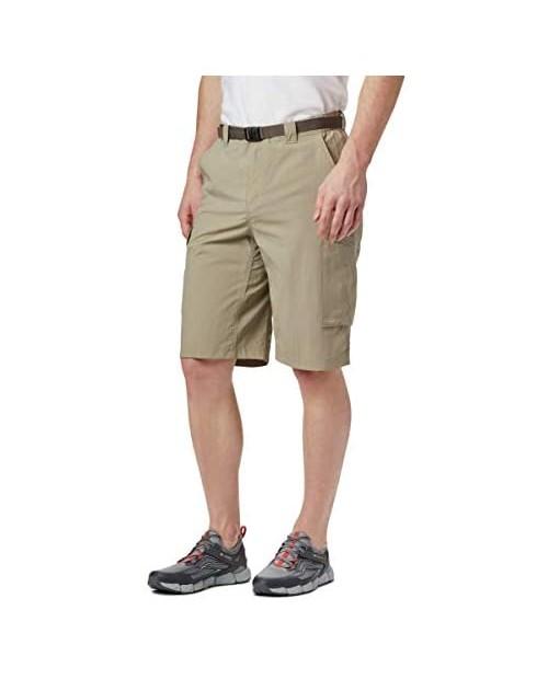 Columbia Sportswear Men's Big and Tall Silver Ridge Cargo Shorts Tusk 42 x 10