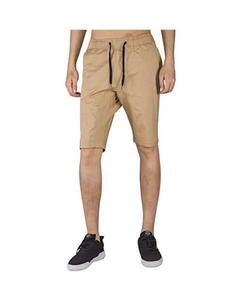 ITALY MORN Men Bermuda Jogger Shorts Elasticated Waistband Slim Fit