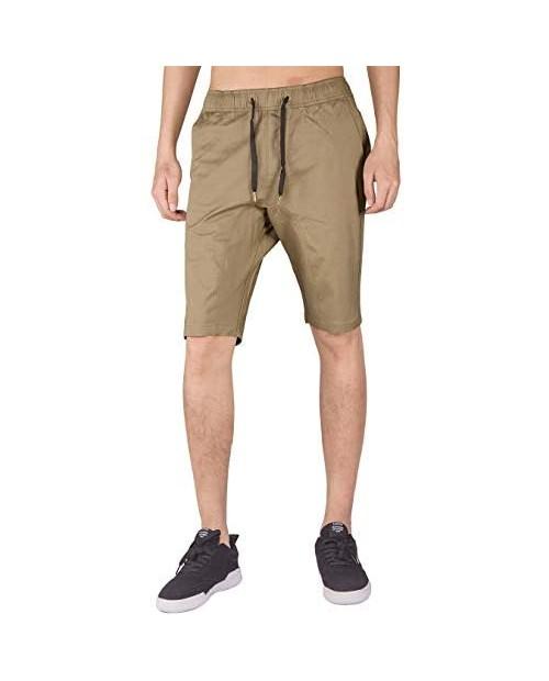 ITALY MORN Men's Chino Comfortable Shorts with Elastic Waistband M Timber Khaki