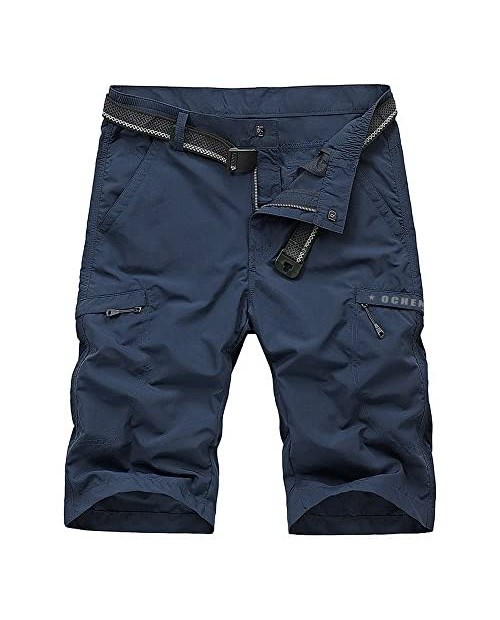 Men's Outdoor Lightweight Hiking Shorts Quick Dry Shorts Sports Casual Shorts Blue 34