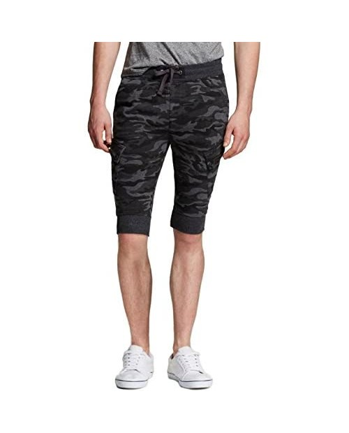 Modern Threads by Well Versed Men's Knit Cargo Jogger Shorts