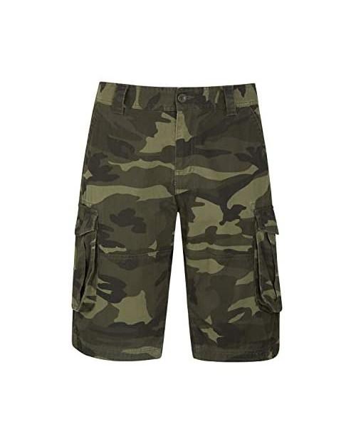 Mountain Warehouse Mens Camo Cargo Shorts -Durable Summer Short Pants
