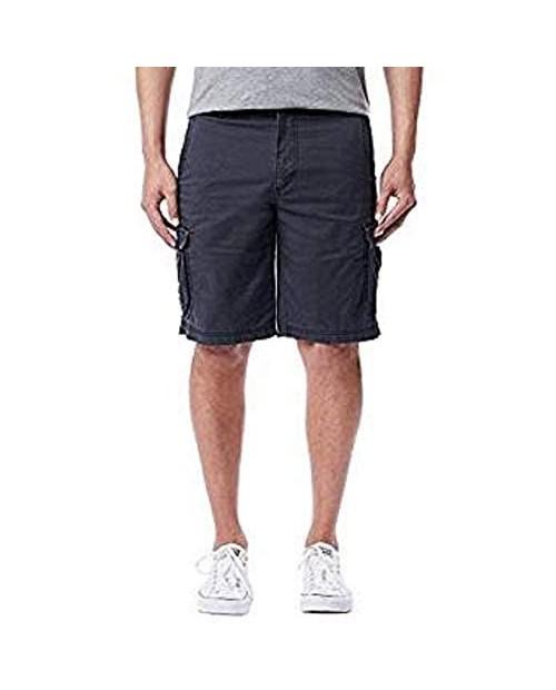 UNIONBAY Montego Mens Cargo Shorts for Comfort Stretch (34 Ruins Blue)