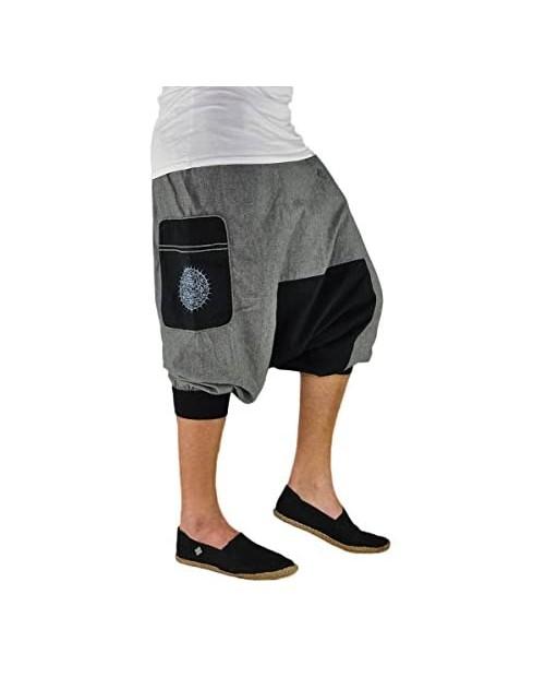 virblatt - Harem Shorts Men & Women | 100% Cotton | Boho Hippie Shorts Yoga Short Genie Summer Pants Cropped Aladdin