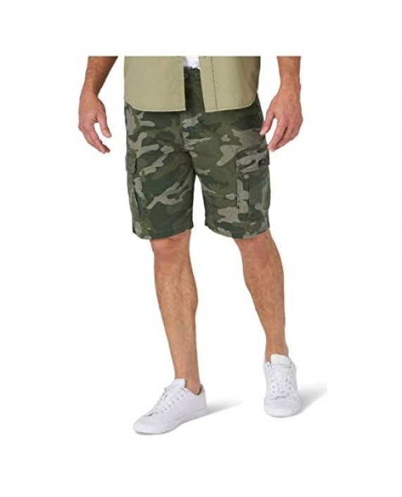 Wrangler Camo Relaxed Fit Stretch Cargo Shorts